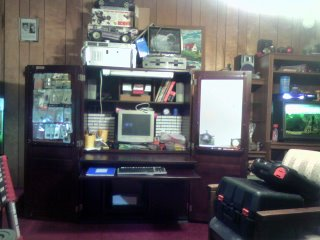 Nearly full electronics hutch