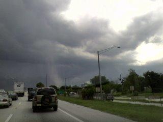 Strange white could in Tampa Bay Florida