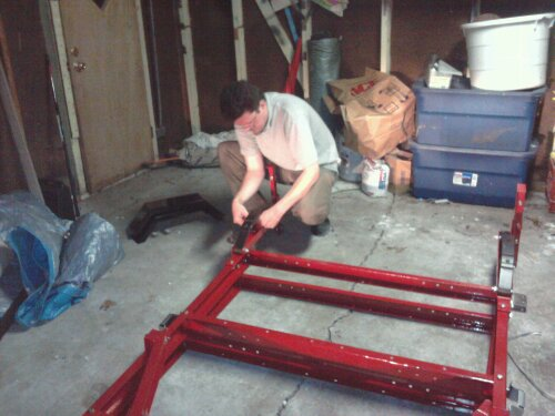 me putting a leaf spring on the trailer