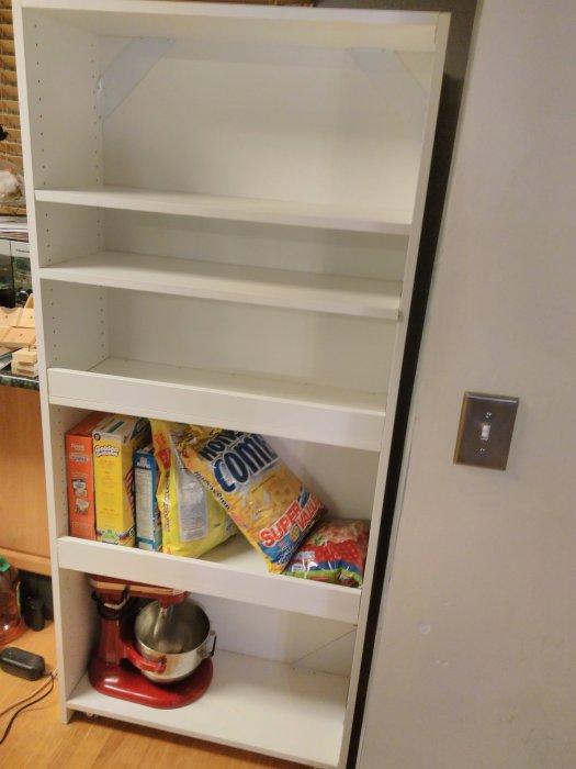 The back makes the shelf stronger