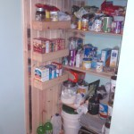 The starting of new shelves for the Kitchen Pantry