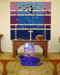 Image of St Michaels Purple Banner