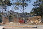 Image of the St Barnabas being built, frame
