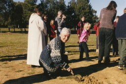 Image of St Barnabas being built, turning of the soil