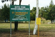 Image of the St Barnabas development site sign