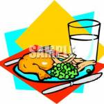 Clipart chicken dinner