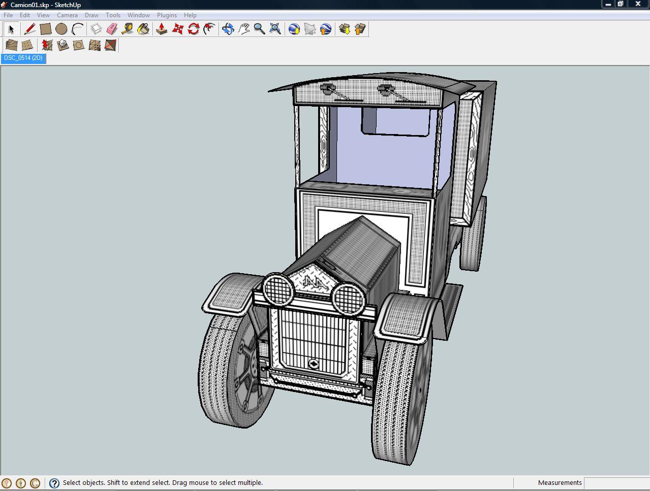 Jos Leppens Sketchup model of Toy Shop Antique Truck
