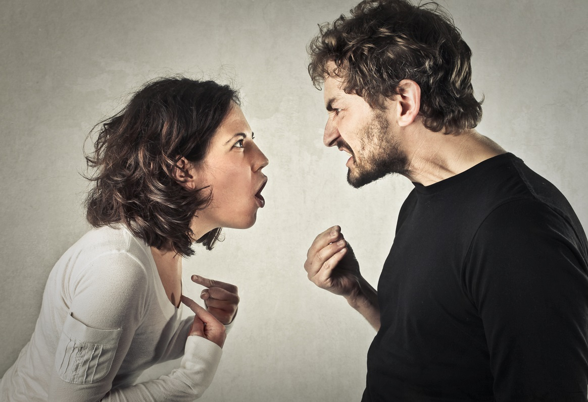 Emotions, couple fighting