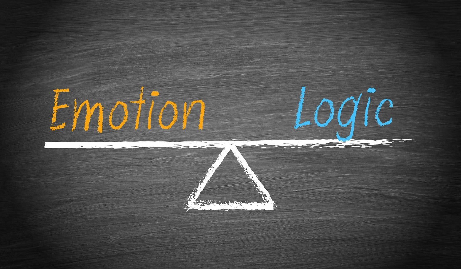 Emotion vs. Logic seesaw