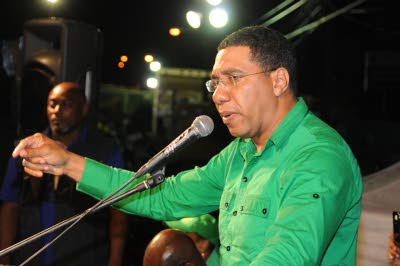 Opposition Leader Andrew Holness.