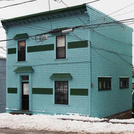 Aqua Colored Home on Duke Street Saint John Photograph