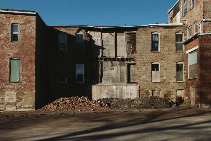 Brick Pile of Germain Street Saint John Photograph