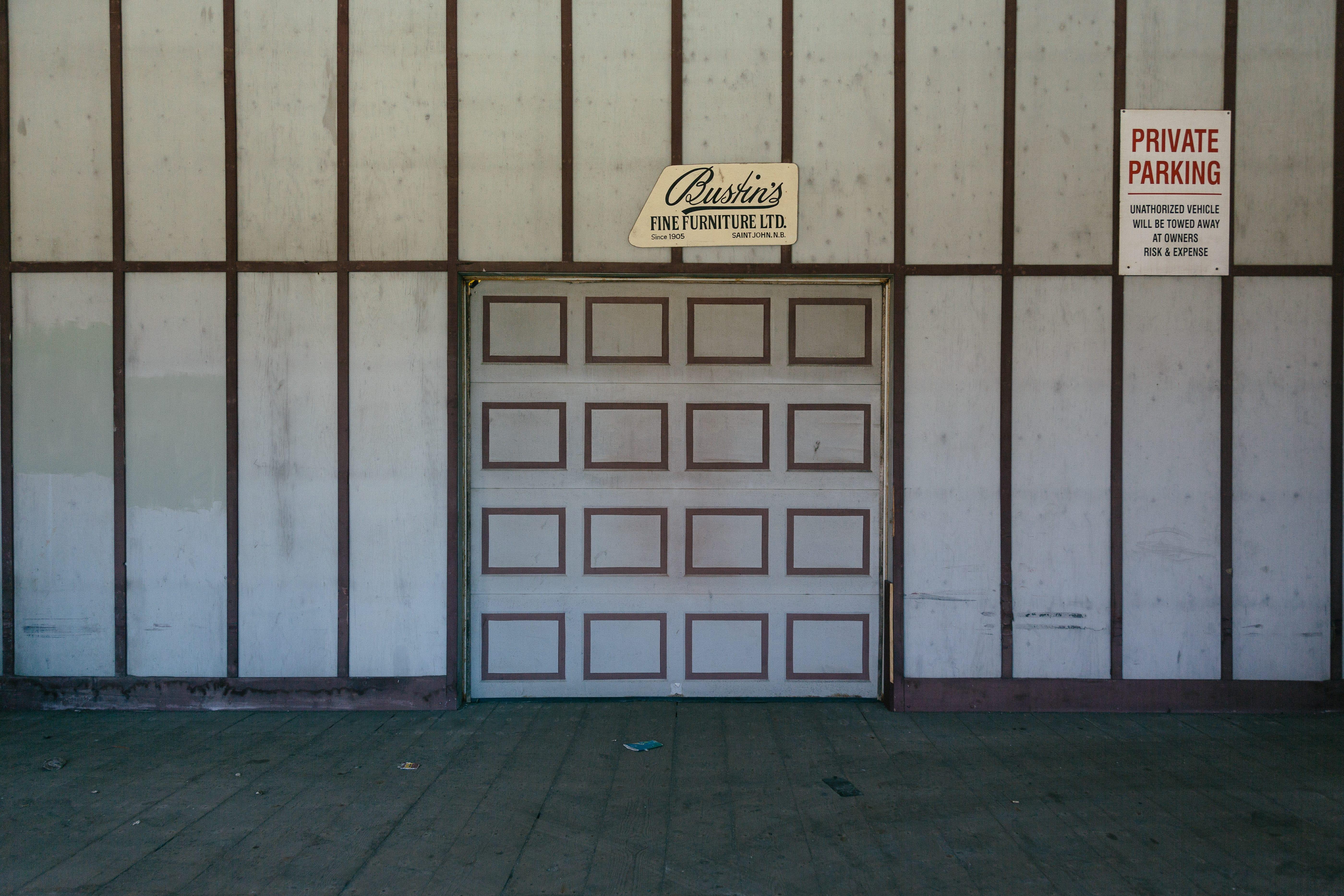 A photograph depicting Bustin Garage Door on Canterbury Street Saint John