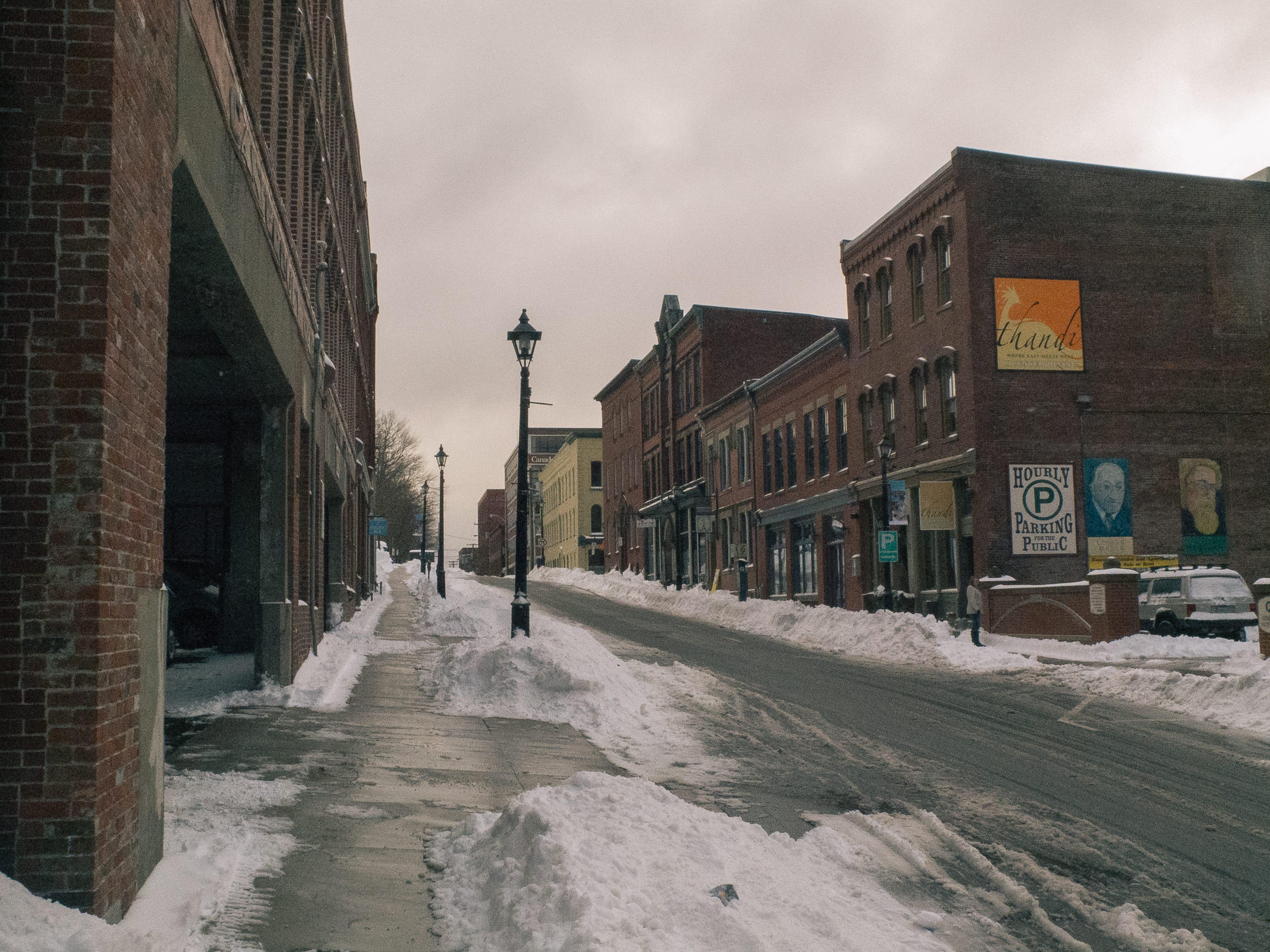 A photograph depicting Canterbury Street in Snow Saint John