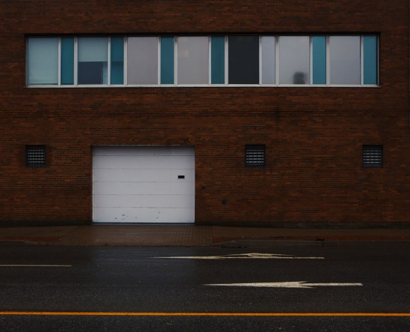 Garage Door Entrance on Water Street Saint John Photograph