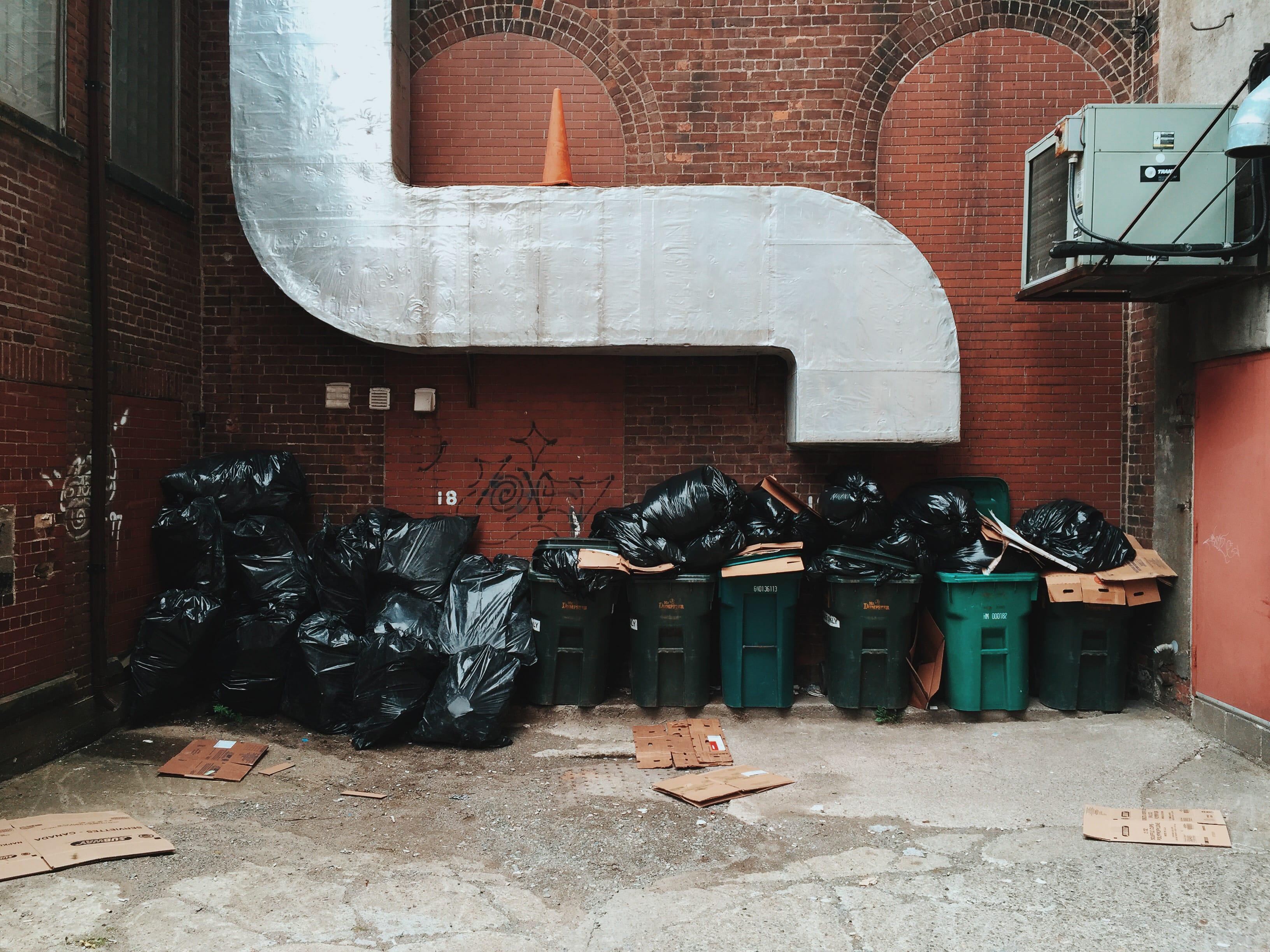 A photograph depicting Garbage Pile Behind Grannan Street Saint John
