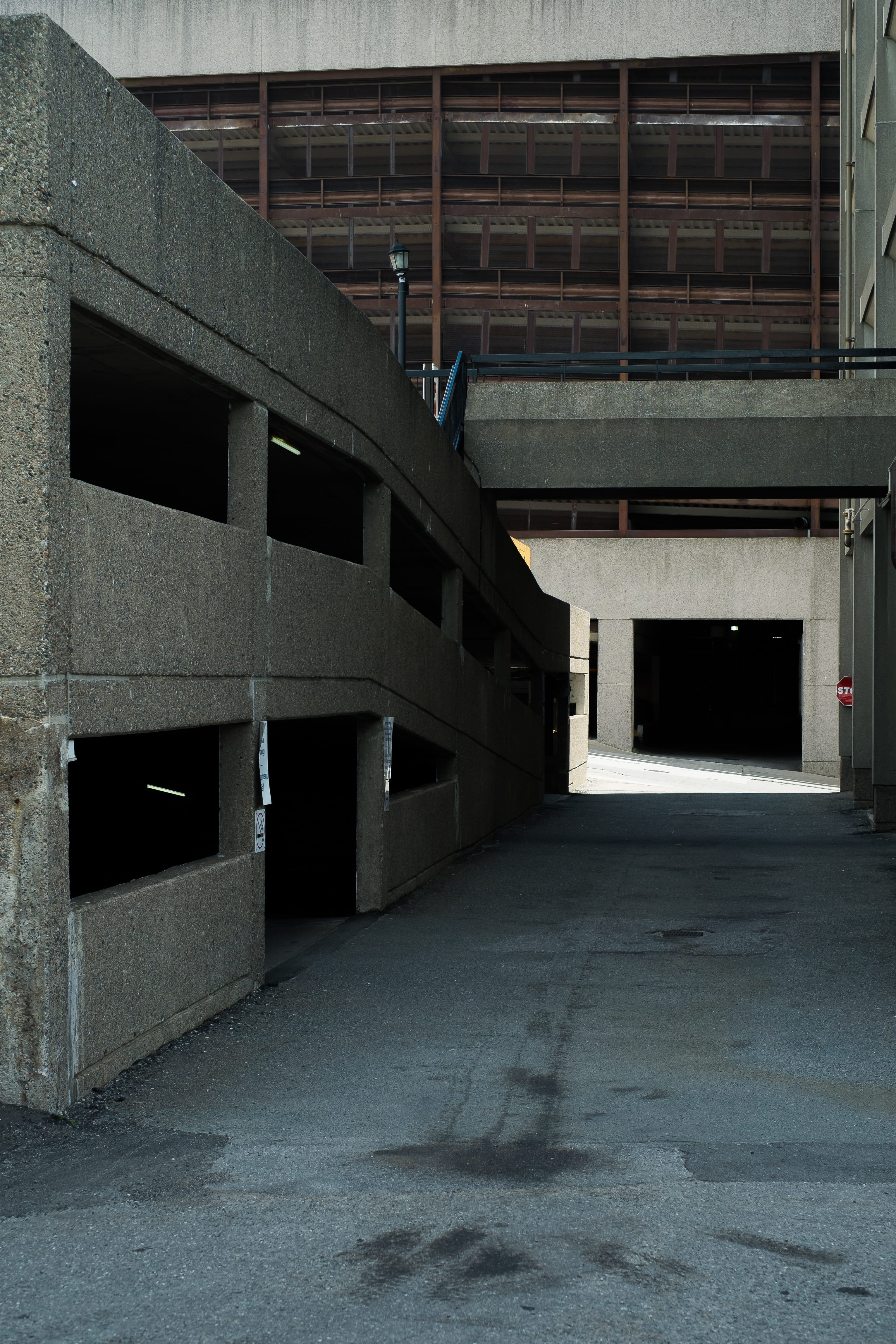 A photograph depicting Old City Hall Parking Lot