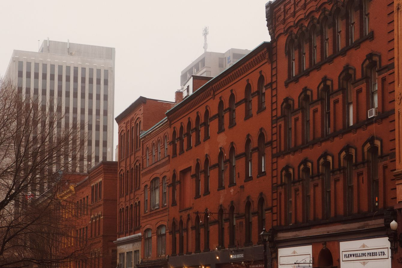 Click thumbnail to see details about photo - Prince William Street Archtiecture Saint John Photograph