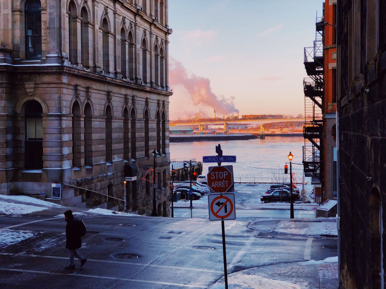 Click thumbnail to see details about photo - Princess Street and Prince William Winter Morning Photograph