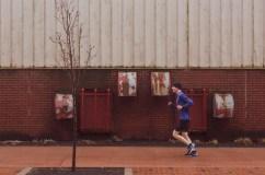 Runner on Water Street Saint John Photograph