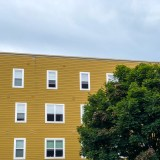 Yellow Apartment Building on Duke Photograph