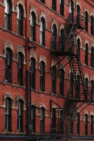Fire Escape on Germain Street Saint John Photograph