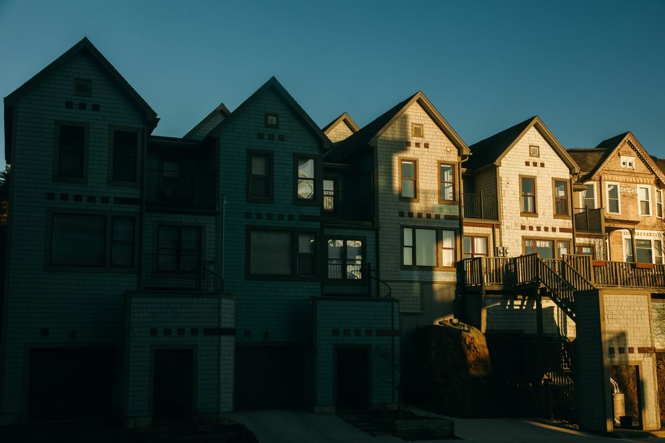Click thumbnail to see details about photo - Prince William Street Homes in Shadows Photograph