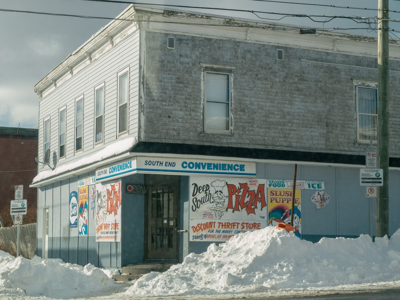 Click thumbnail to see details about photo - South End Convenience in Winter Saint John Photograph