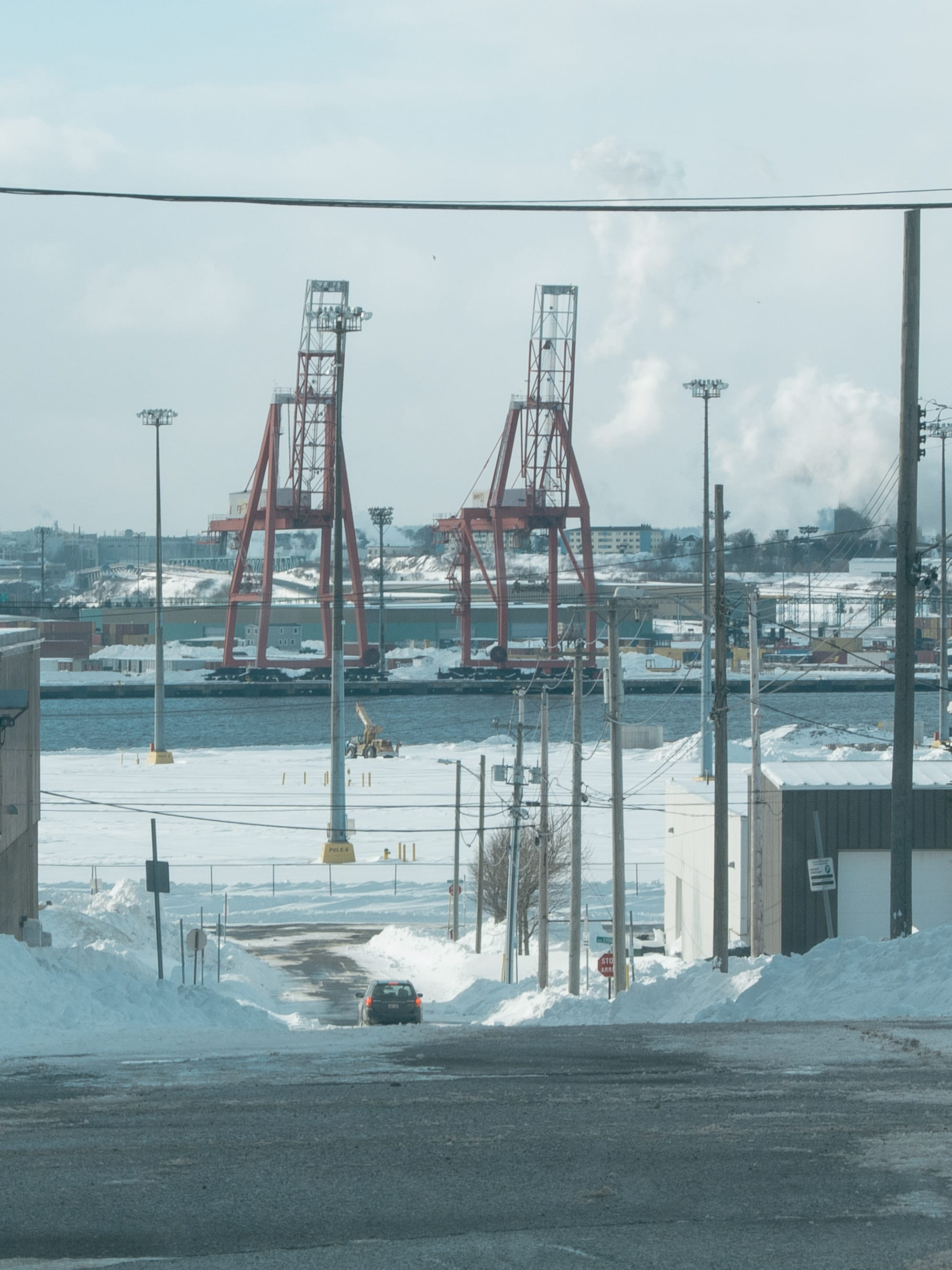 A photograph depicting Two Cranes Saint John