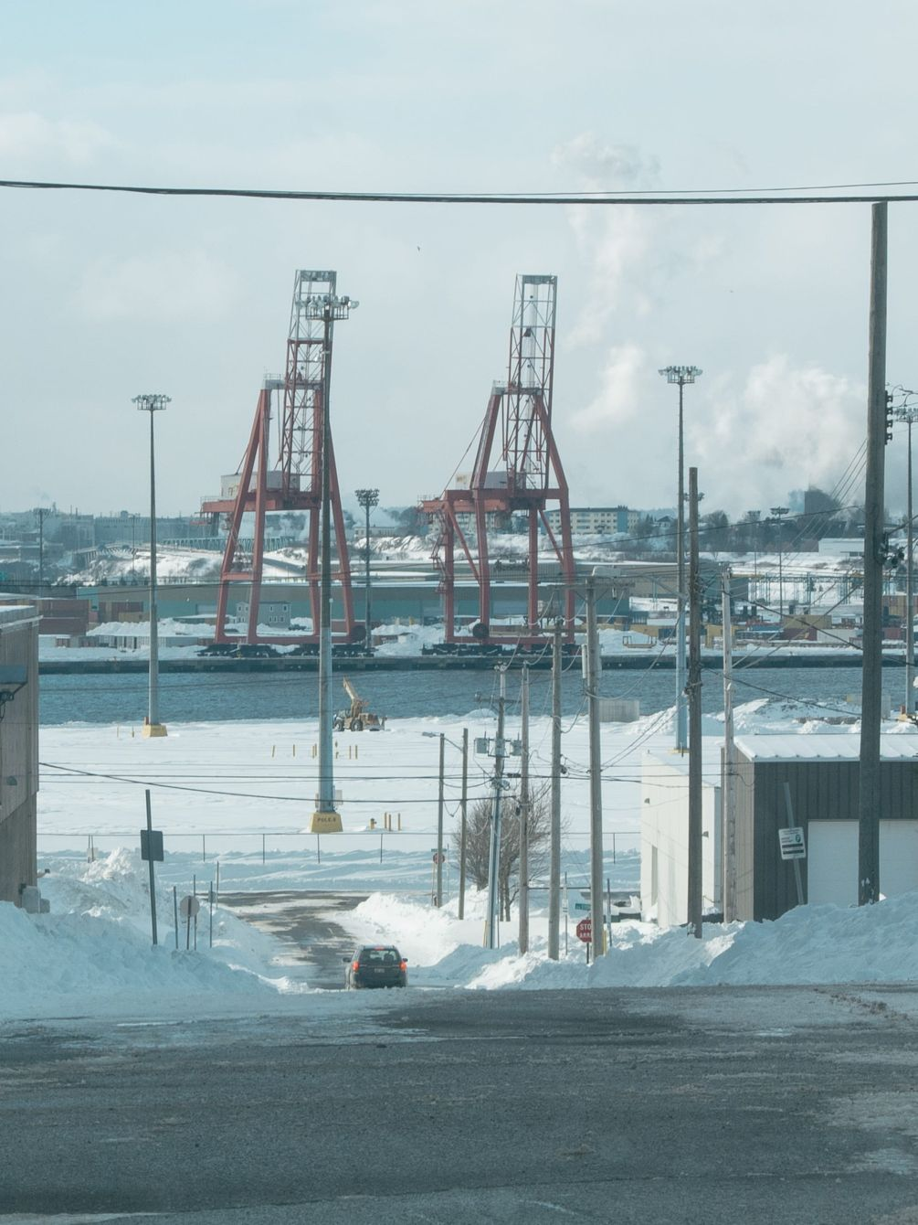 Click thumbnail to see details about photo - Two Cranes Saint John Photograph