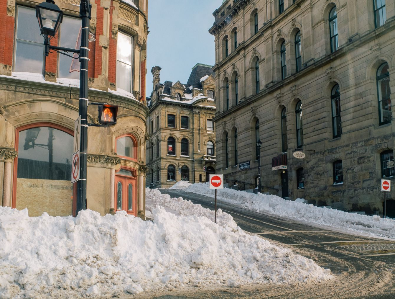Click thumbnail to see details about photo - Water Street and Princess Snowbank Photograph