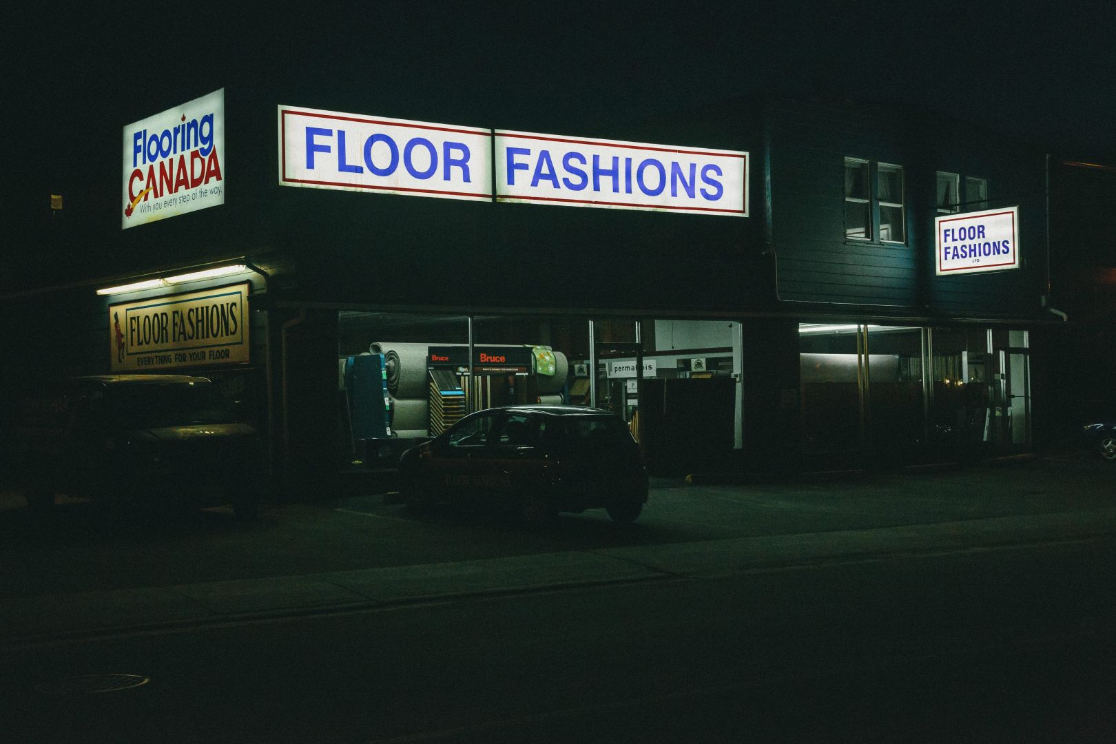 A photo of floor fashion at night saint john nb