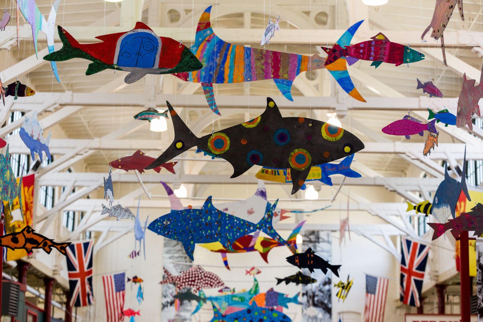 A photo of Overhead Decorations at Saint John City Market Photograph