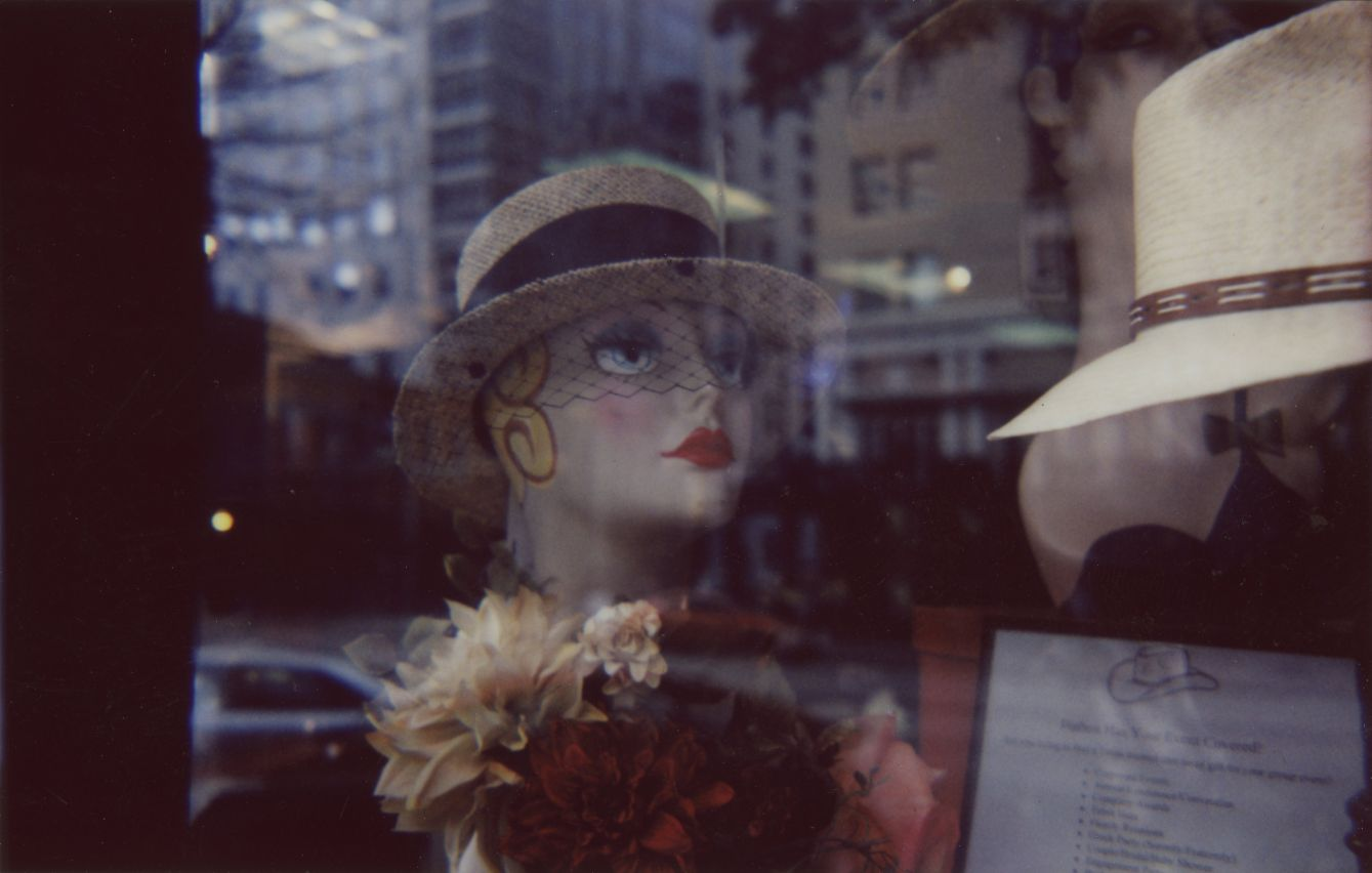 Click thumbnail to see details about photo - Austin Hat Store Window 1