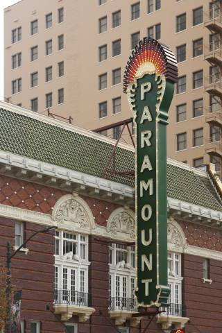 A photo of Austin Texas Paramount Sign