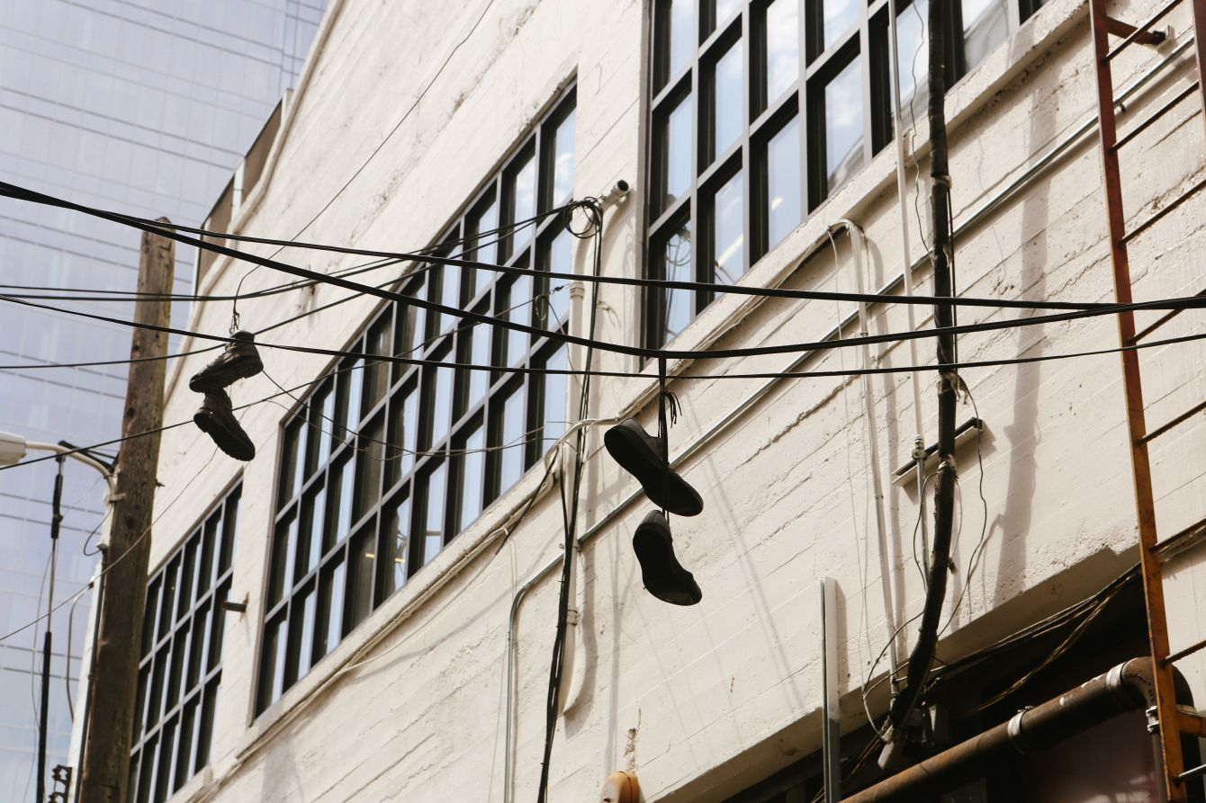Click thumbnail to see details about photo - Austin Texas Shoes On Power Lines