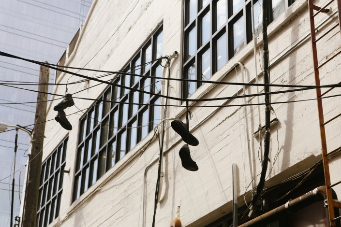 Austin Texas Shoes On Power Lines