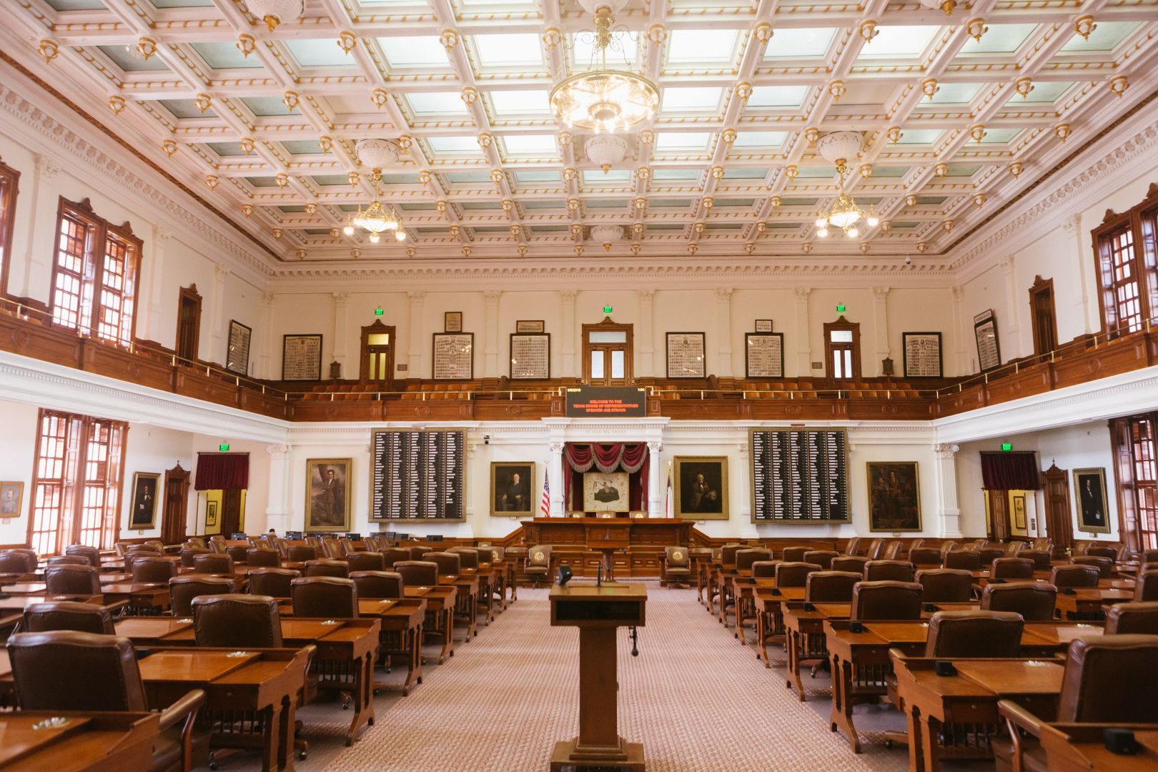 A photo depicting Austin Texas State Capital Floor