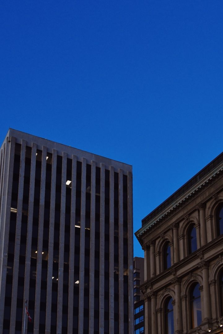 A photo of Prince William Street Building View Vertical Dusk
