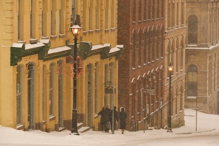 A photo of Walking Down Princess Street In Snow
