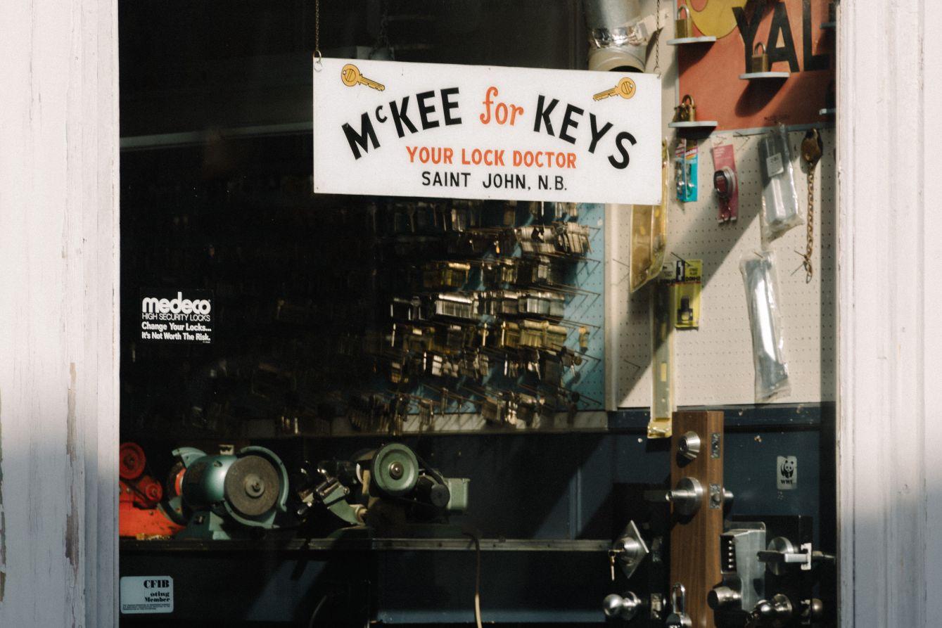 Click thumbnail to see details about photo - McKee for Keys Window Princess Street Saint John