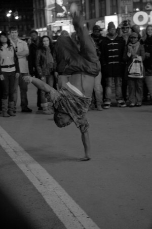 A photo of New York City Breakdancing One Hand