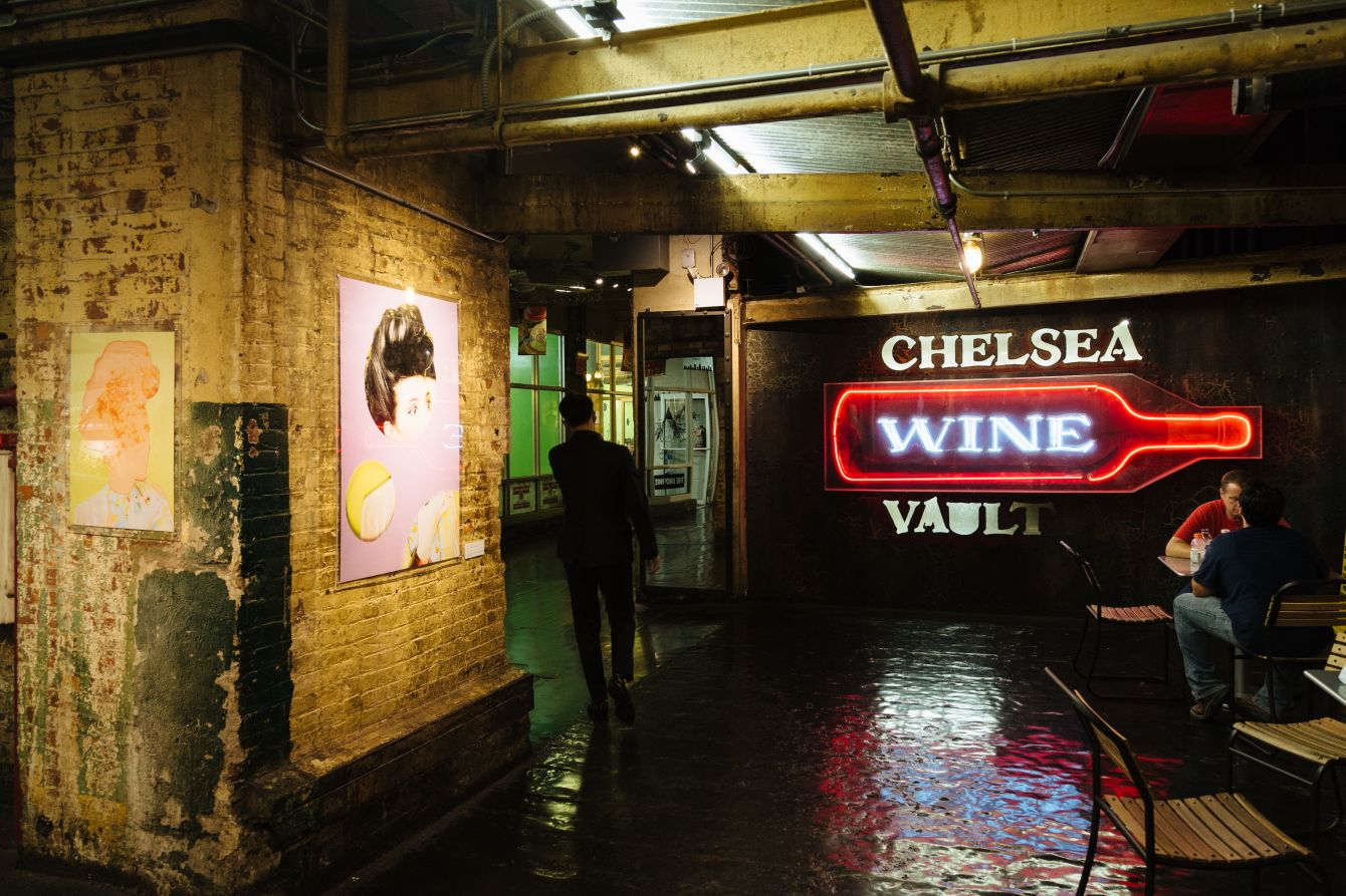 Click thumbnail to see details about photo - New York City Chelsea Market Wine Sign