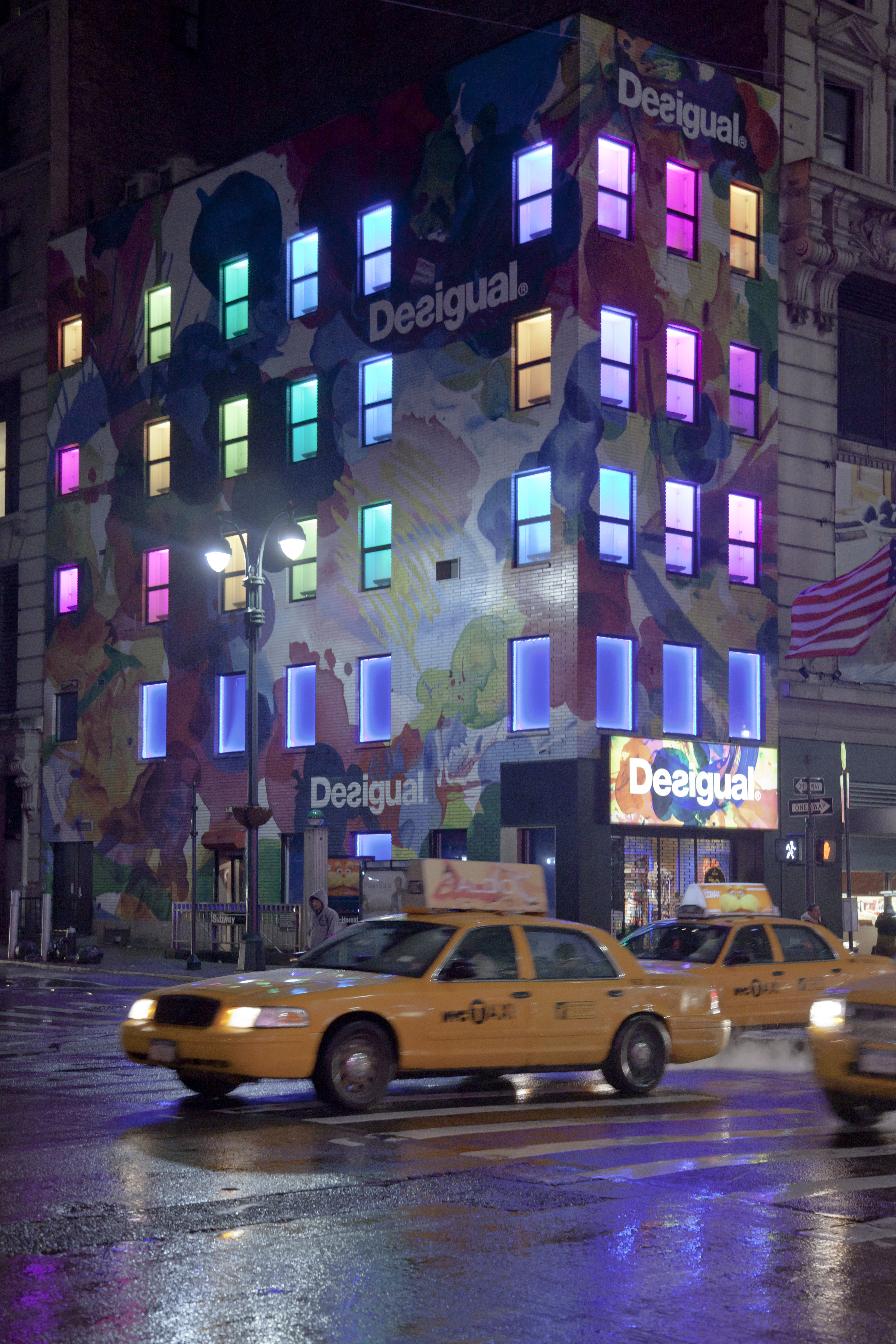 New York City Desigual Store At Night