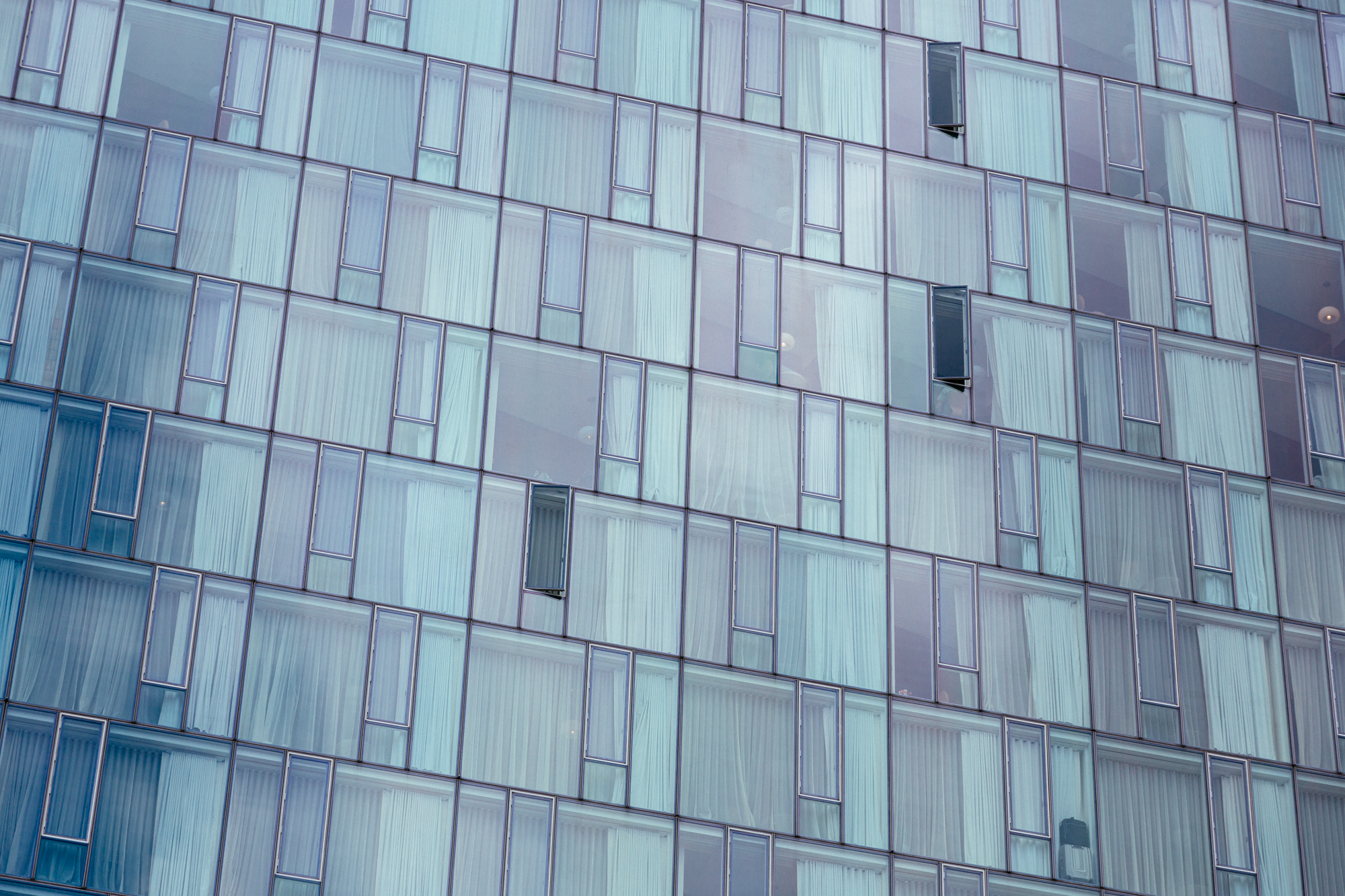 New York City Slanted Windows