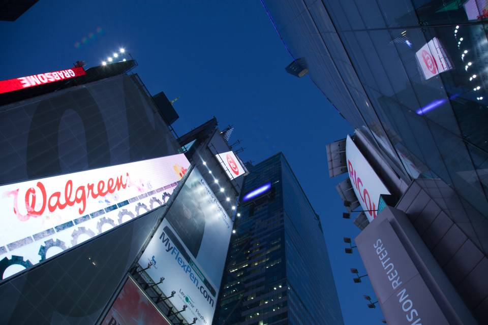 A photo of New York City Times Square Look Up