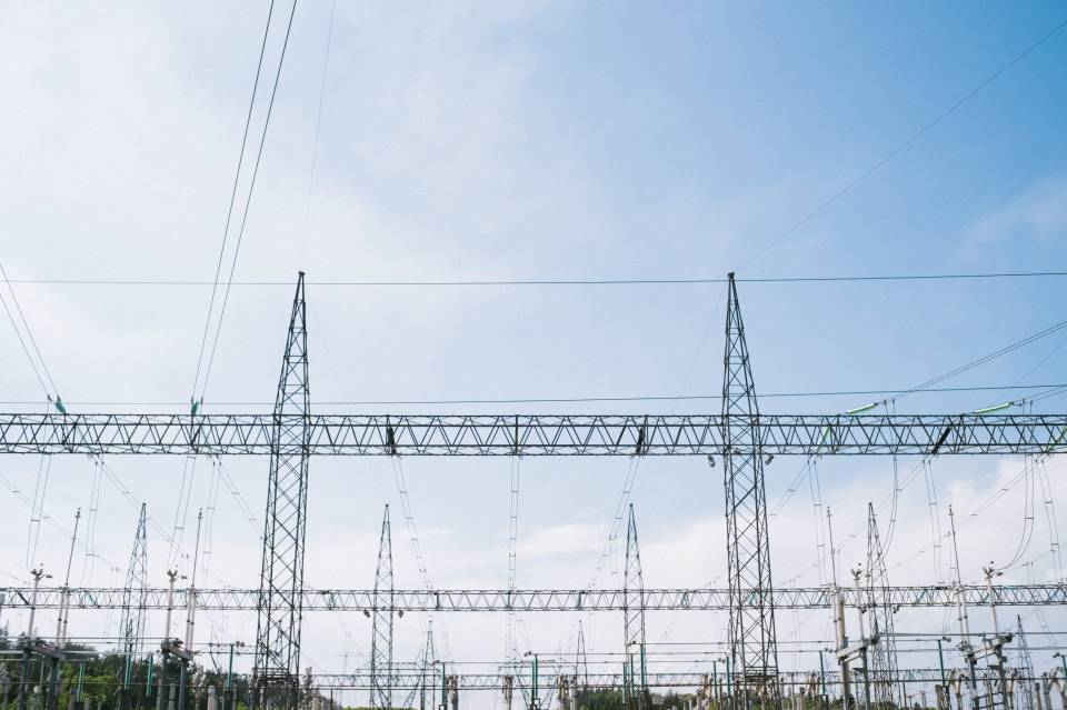 A photo of Power Line Transmission Centered