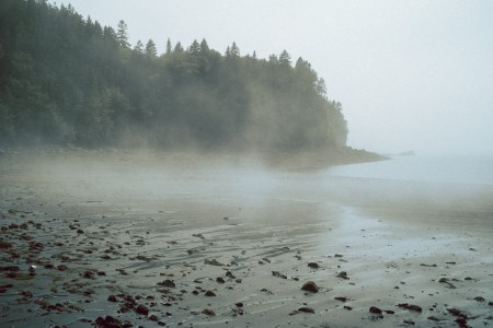 A photo of Black Beach With Fog Saint John NB