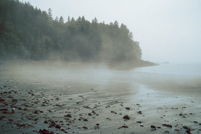 Black Beach With Fog Saint John NB
