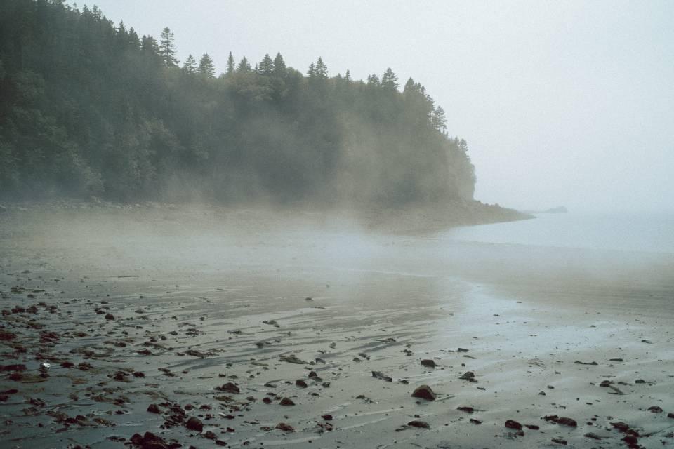A photo of Black Beach With Fog Saint John NB